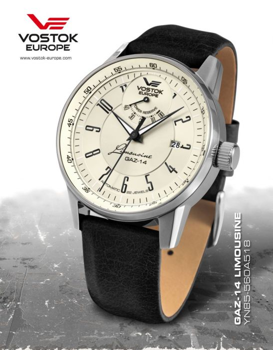 ЧАСЫ VOSTOK-EUROPE LIMOUSINE YN85-560A518 Power reserve